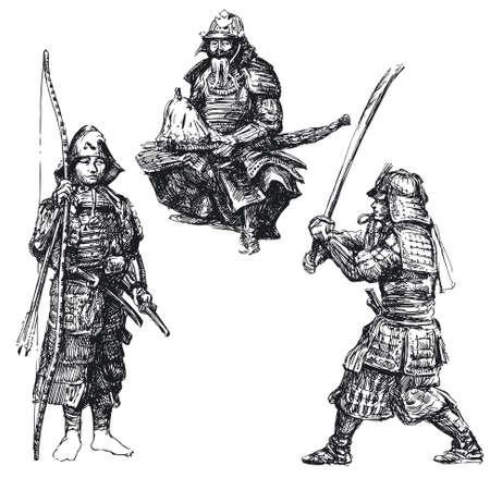 japanese warr - samurai Stock Vector - 13571764