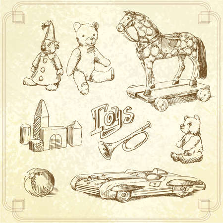 vintage toys Vector