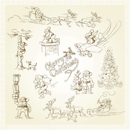 santa funny: christmas card