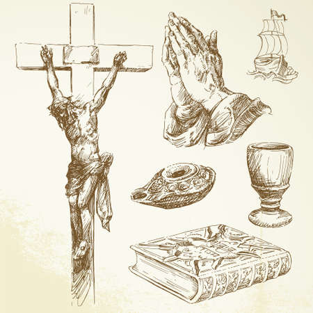 eucharistie: christianisme, religion Illustration