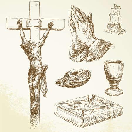 cristianismo, la religión Ilustración de vector