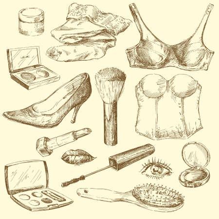 lingerie: women s accessories Illustration