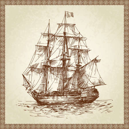 navy ship: sailing ship