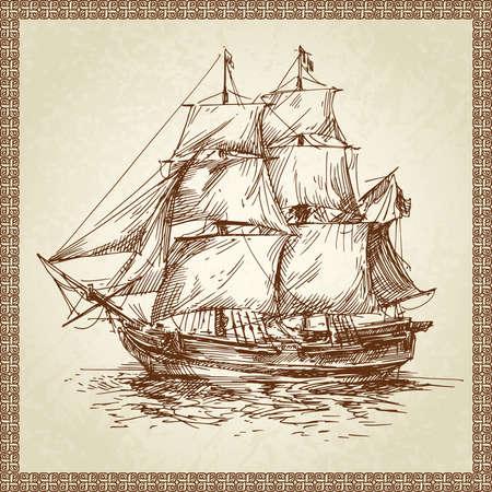 historical ship: sailing ship