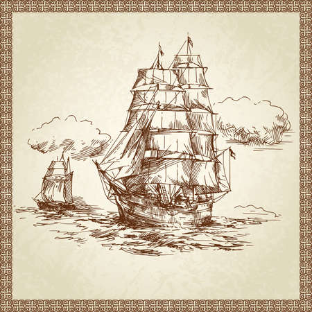 sailing ship  Stock Vector - 13843696