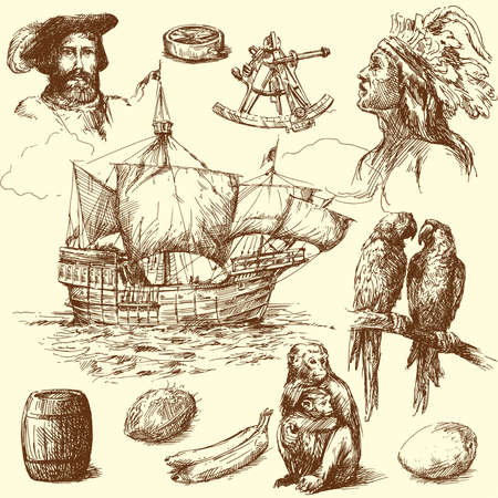 brig: nautical collection  Illustration