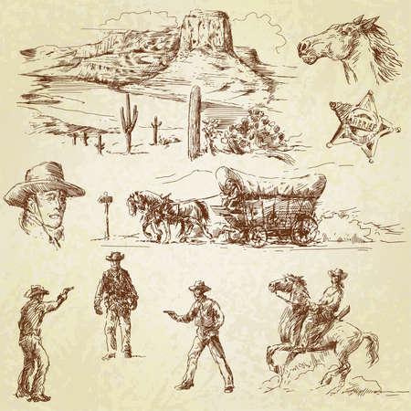 western background: wild west