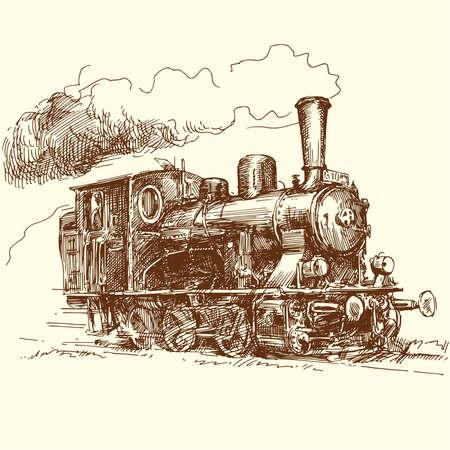 maquina de vapor: la locomotora de vapor Vectores