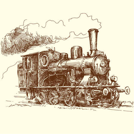 steam iron: steam locomotive