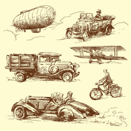old time-hand drawn collection  Vector