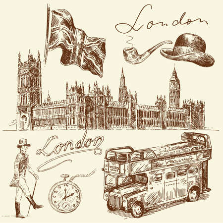 houses of parliament   london: london collection  Illustration