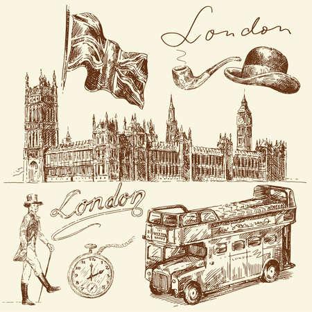 inglese flag: london collezione