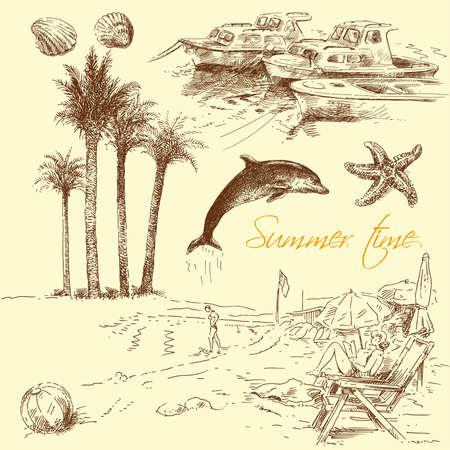 starfish beach: summer collection  Illustration