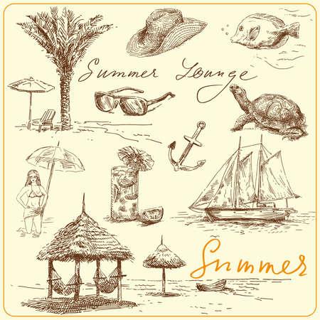 hammock: summer collection  Illustration