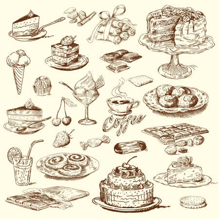 amande: grande collection douce Illustration