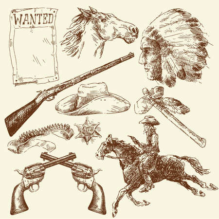 tomahawk: hand drawn wild west collection