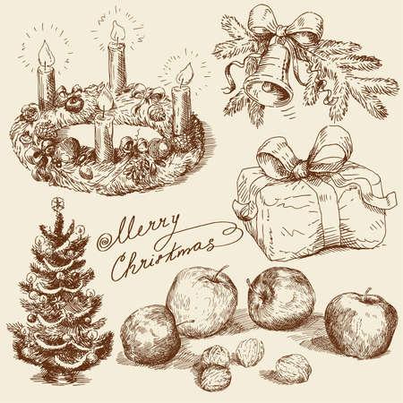手描きのクリスマス コレクション