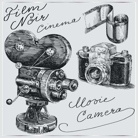 cámaras de mano dibujadas
