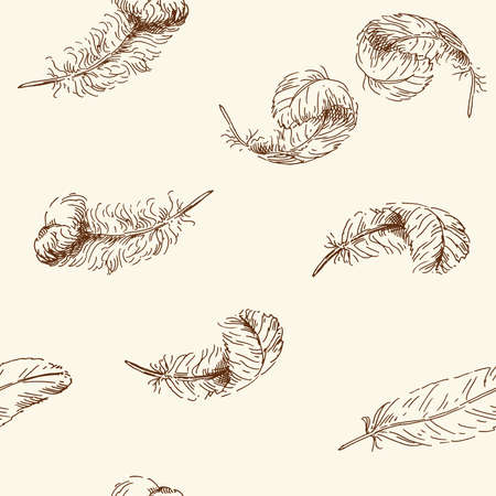 oiseau dessin: dessinés à la main, seamless,