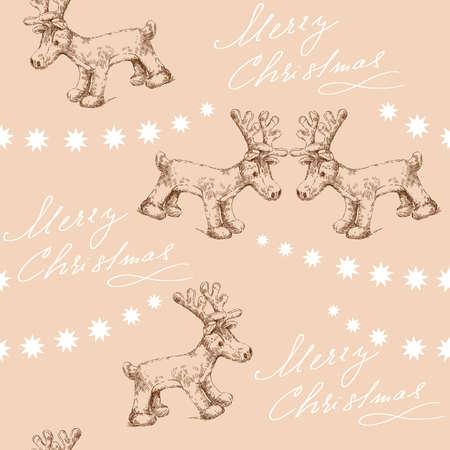 plushy: seamless christmas pattern