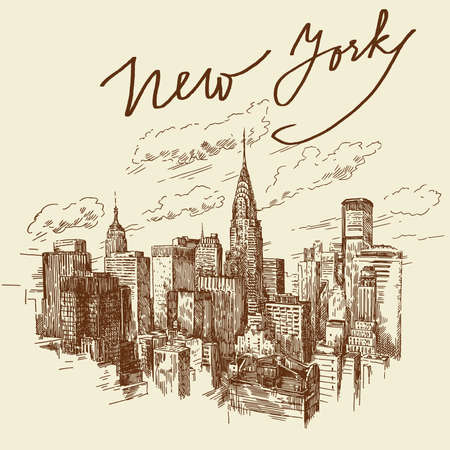 hand drawn new york  Vector
