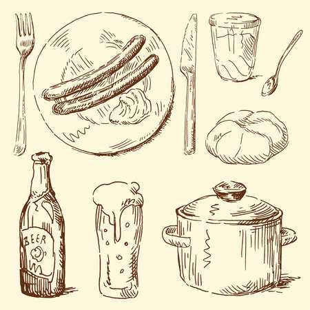 food doodles  Vector