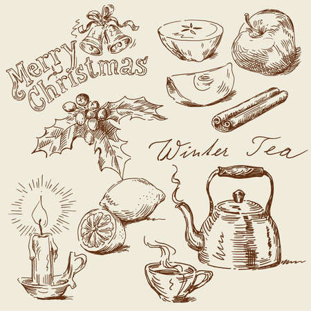 candlestick: winter time Illustration