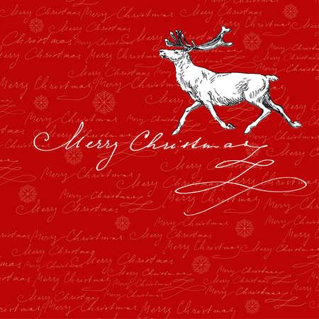 running reindeer: christmas background