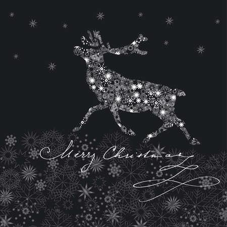 running reindeer: christmas reindeer
