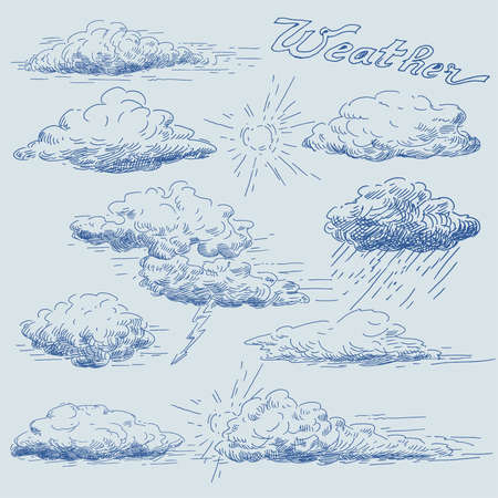 hand drawn clouds Stock Vector - 14097893