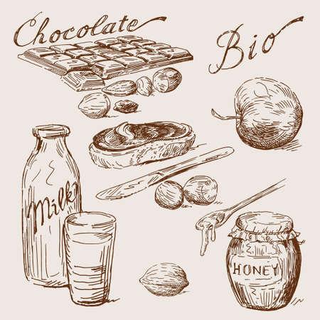 apple and honey: hand drawn chocolate