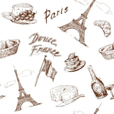 パリのシームレスなパターン