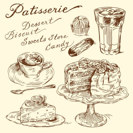 pastries: sweet doodles  Illustration