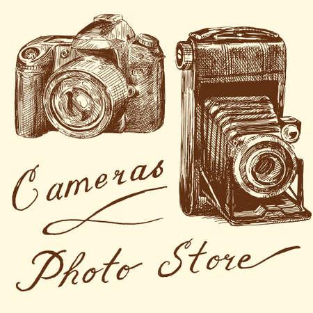 camera icon set: cameras
