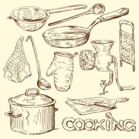 casserole: cooking doodles  Illustration