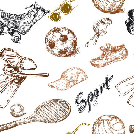 inline skate: sport seamless pattern