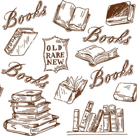 bookshop: books pattern