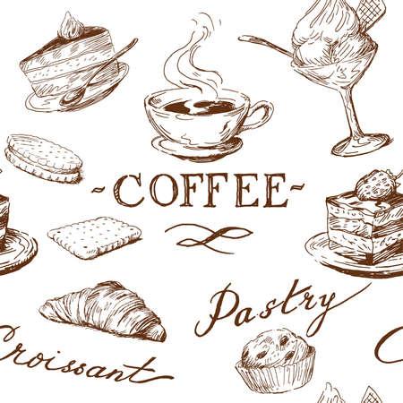 sweet seamless pattern Illustration