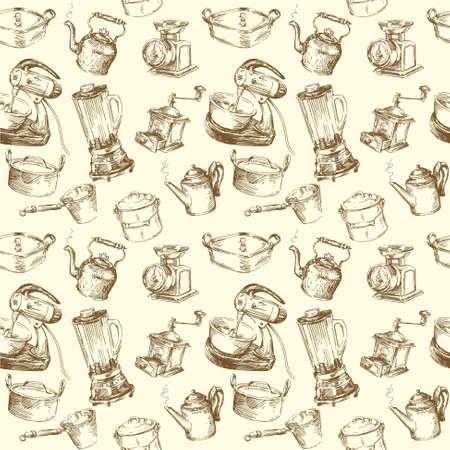 Küchenutensilien seamless wallpaper