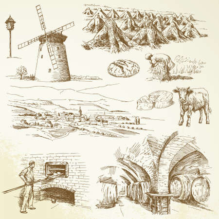 bread and wine: agriculture, rural village
