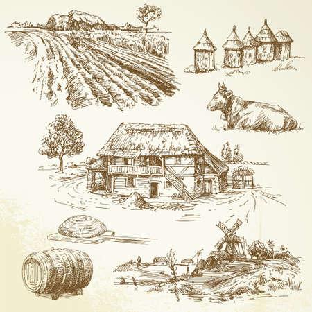 ländlichen Landschaft, Landwirtschaft, Landwirtschaft