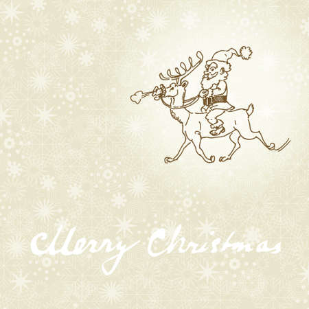 christmas background - humorous Santa Vector