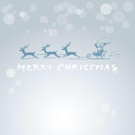 Christmas card - funny Santa Stock Vector - 16581172