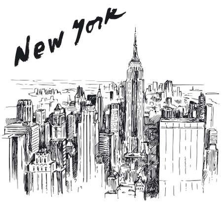 chrysler building: New York - hand drawn illustration