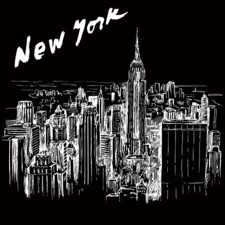 New York - hand drawn illustration Stock Vector - 18990702