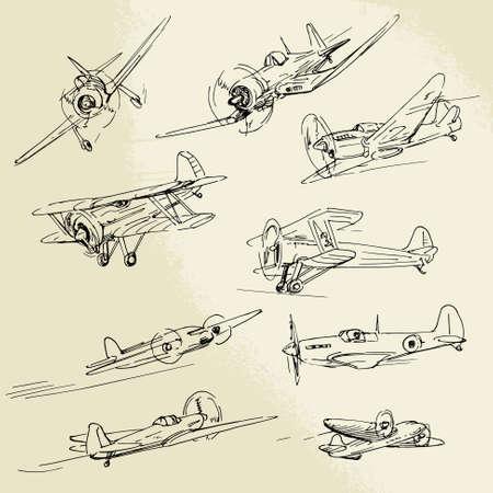 Aviones dibujados a mano Foto de archivo - 22083930