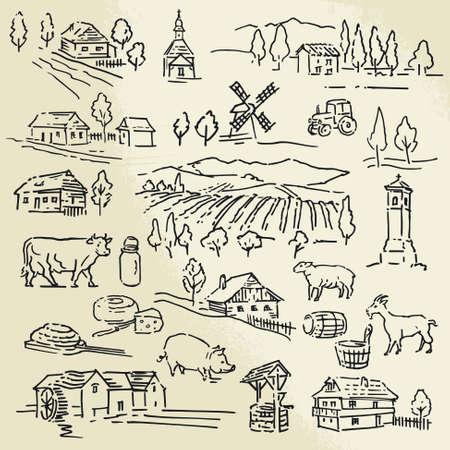 crop: farm Illustration