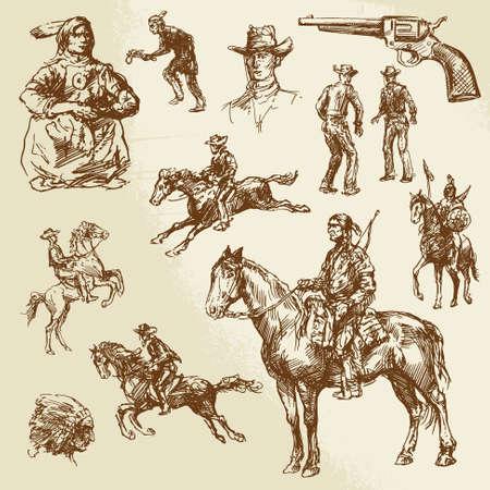 обращается: Дикий Запад - рисованной коллекцию