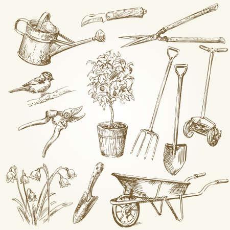 Outils de jardinage Banque d'images - 27447035