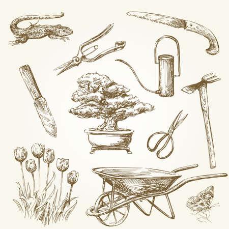 rake: gardening tools  Illustration